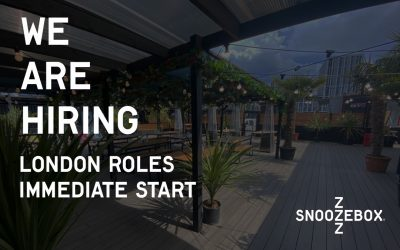 SNOOZEBOX ARE HIRING IN LONDON